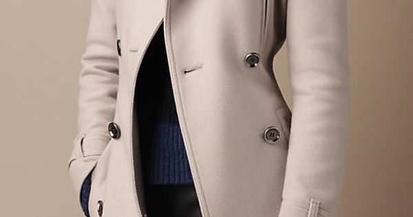 Funnel Neck Wool Coat | Burberry coats