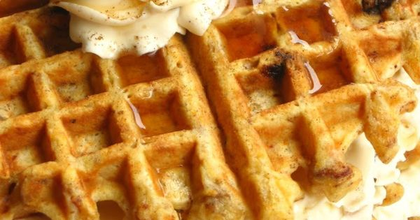 Carrot Cake Waffles~ what a fun spring or Easter breakfast or brunch