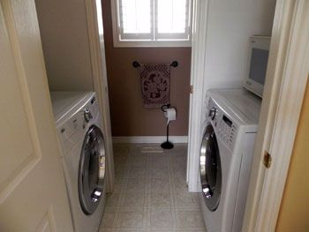 Washer And Dryer Across From Each Other Small Laundry Rooms