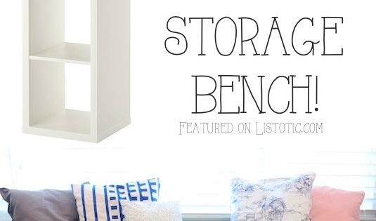 20 Creative Furniture Hacks :: Turn a bookshelf into a cute storage