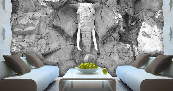 details zu vlies fototapete tapete foto bild elefant grau wand stein skulptur 10116 ve graue. Black Bedroom Furniture Sets. Home Design Ideas