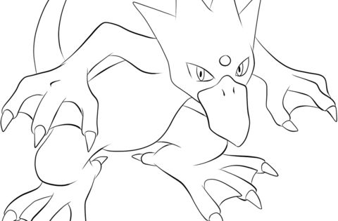 Click To See Printable Version Of Golduck Coloring Page Pokemon Coloring Pages Pokemon Coloring Coloring Pages