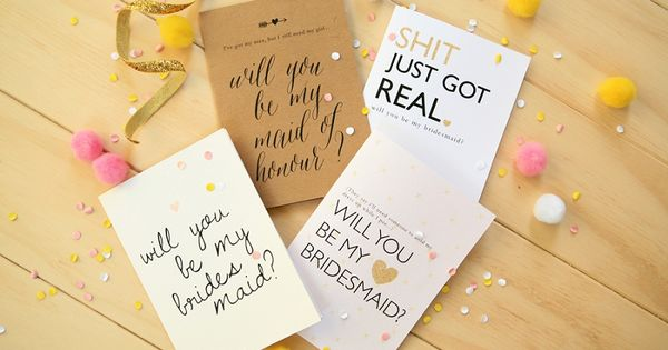 FREE Will You Be My Bridesmaid Printables Exclusive to P\L! Free - p & l template