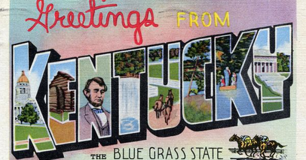 Greetings From Kentucky The Blue Grass State Large Letter