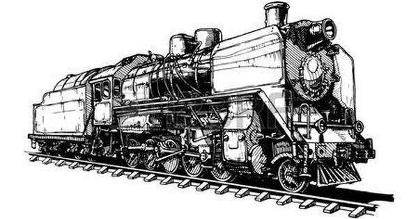 Dessin Locomotive Illustration D 39 Une Vieille Locomotive A Vapeur Locomotive Dessin Train Locomotive Vapeur