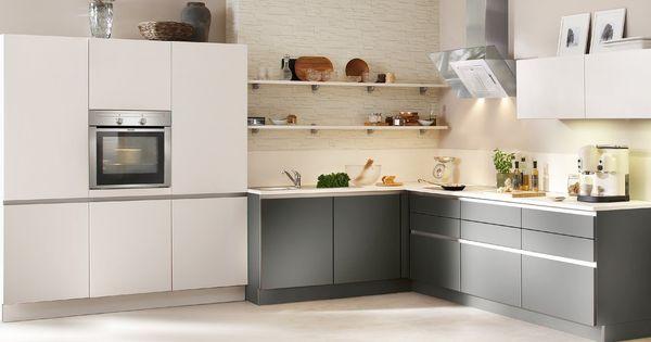 Nolte Matrix grifflose Küche weiß grau Küche Pinterest Gray - nolte grifflose küche