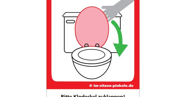 bitte klodeckel zumachen put down the lid saubere toilette pinterest. Black Bedroom Furniture Sets. Home Design Ideas