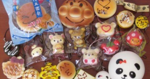 20 PC Kawaii SQUISHY LOT Panda Bun Rilakkuma Cupcake Waffle Burger Squishies eBay Squishes ...