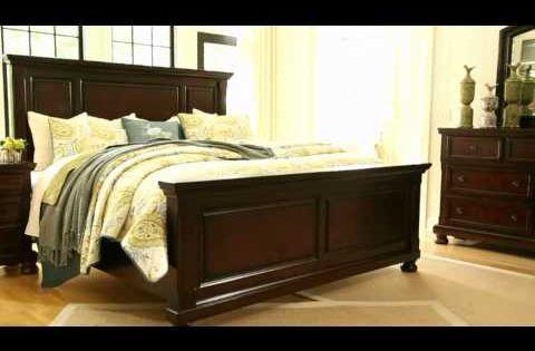 Porter bedroom ashley rustic brown porter king panel bed - Ashley furniture marsilona bedroom set ...
