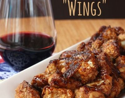 """Balsamic Glazed Cauliflower """"Wings"""" for SundaySupper with @Ana G. G. G. Maranges Gallo - Cupcakes & Kale Chips"""