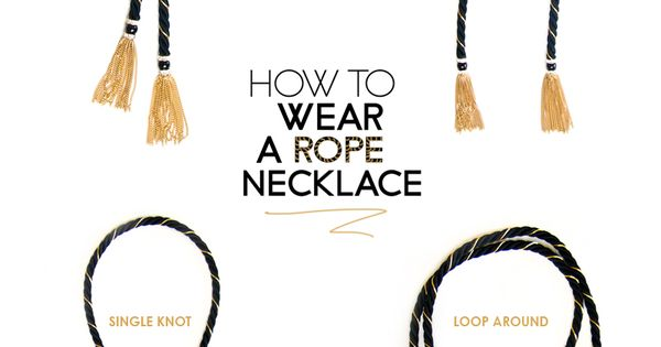 How to style wear rope necklace chain tassel 4 ways for Rope designs and more