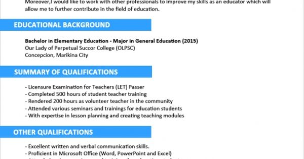 sample profile statements for with statement resume examples - teacher trainer sample resume