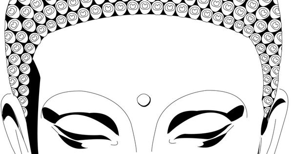 buddha face coloring pages go back images for simple. Black Bedroom Furniture Sets. Home Design Ideas