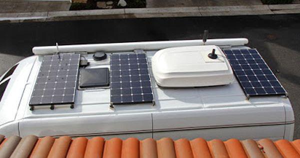 300 Watt Solar Panel Upgrade On Roadtrek Ac Dc Compressor Fridge Installation Upgrade High Efficiency Small Solar Energy Panels Solar Panels Solar Power Diy