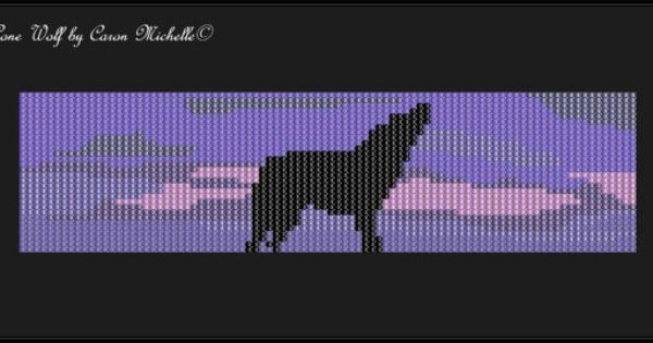 Lone Wolf Bead Loomed Pattern Instant Download Pdf