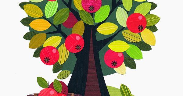 Ellen Giggenbach: My Farm illustrations, apple tree ...