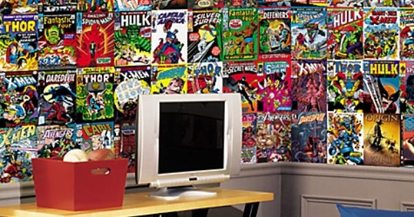Marvel Comics Mural Wall Graphic-For the boys comic book ...