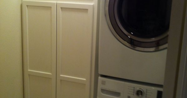 Small laundry room pantry combo. Removed side by side ...