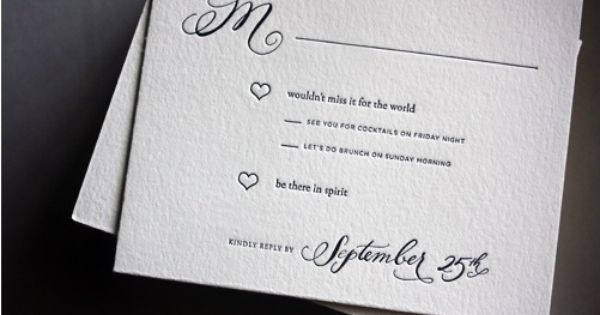 RSVP cards wording quotbe there in spiritquot