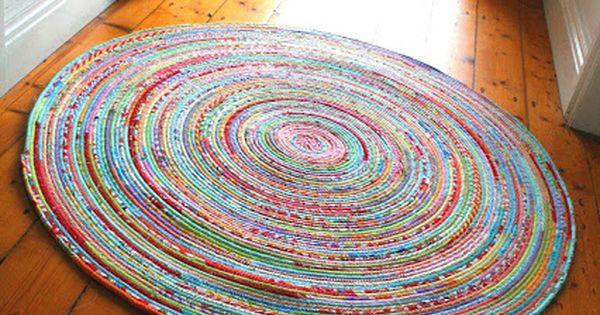 Tuto pour faire un tapis en corde et tissu en anglais for A coudre en anglais