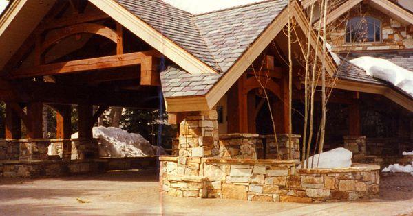 Residential Porte Cochere Designs Heavy Timber Framed