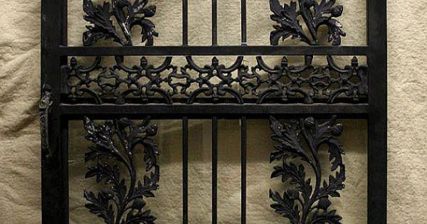 Black Wrought Iron Storm Doors Vintage Steel Iron