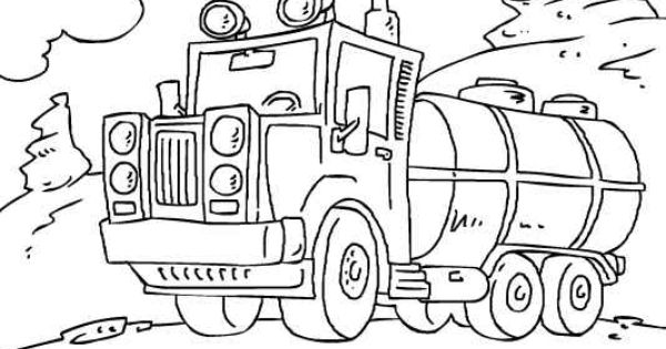 Tanker Truck Coloring Page. Loads More Trucks And Cars To