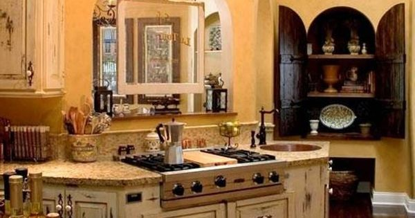Old world tuscan kitchen design kitchens pinterest best tuscan kitchen decor and tuscan Old world tuscan kitchen designs
