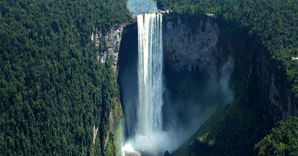 Kaieteur Falls in Guyana South America, proud that this amazing place is