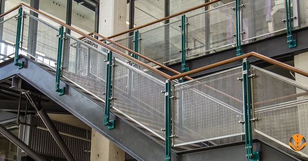 Best Powder Coated Stainless Steel Glass Railing Systems Metal And Wood Pinterest Glass Railing 400 x 300