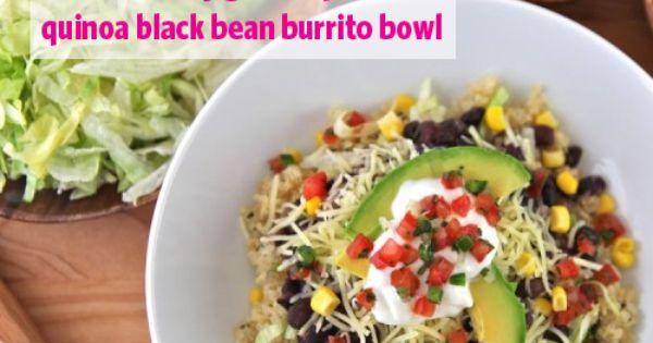 ... Girl Recipe: Quinoa Black Bean Burrito Bowls | GirlsGuideTo