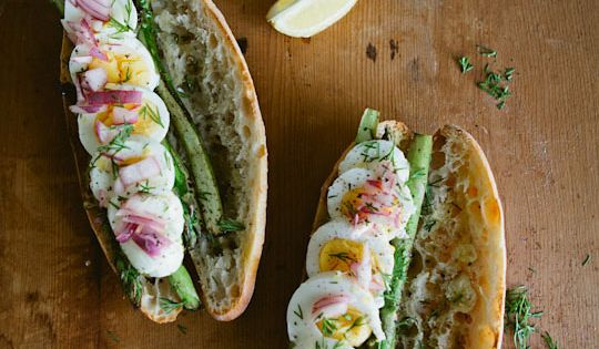 Recipe: Boiled Egg, Seared Asparagus & Pickled Onion Toasted Sandwich _ My