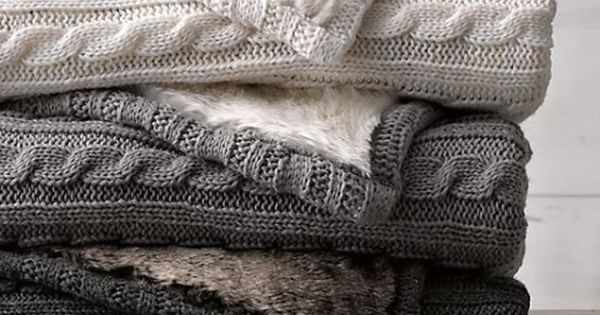 Cable Knit & Luxe Faux Fur Stroller Blanket | Knit ...