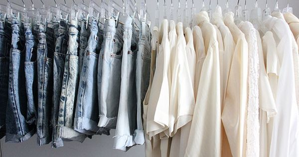 Washed color denim shorts + white blouses, can't go wrong with it.