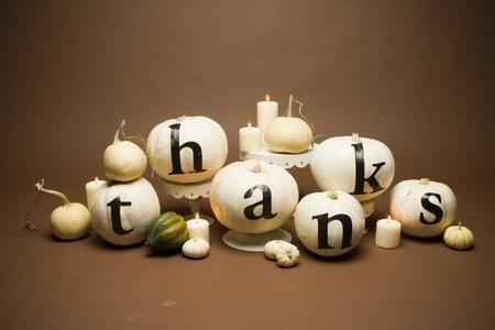 Wonderfully charming Thanksgiving decor idea. Thanksgiving pumpkins thanks beautiful white autumn fall