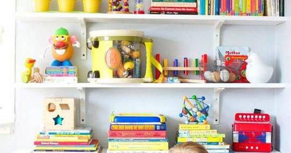 15 ideas para decorar las estanter as de los ni os - Estanterias para bebes ...