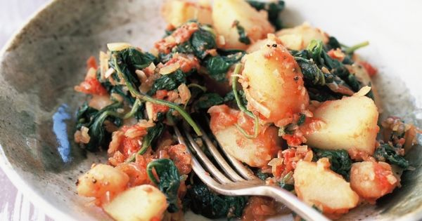 Spinach, Potatoes and Potato recipes on Pinterest