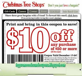 Free Printable Christmas Tree Shops Coupons Tree Shop Coupons Christmas Tree Shop