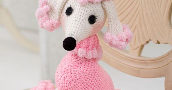 Free Amigurumi Poodle Pattern : Pomp a poodle crochet pattern red heart free no