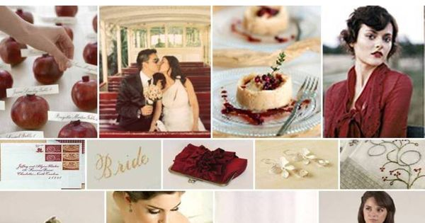 Cranberry and Cheesecake color scheme