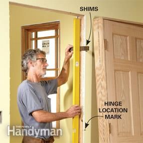 Tips For Hanging Doors Home Repair Basement Remodeling Family Handyman
