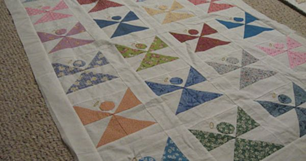 Angel Quilt These Are Simple Blocks Each Block Consists