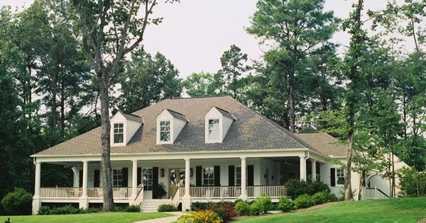 Acadian style home with wrap around porch in alabama for House plans with wrap around porch and pool