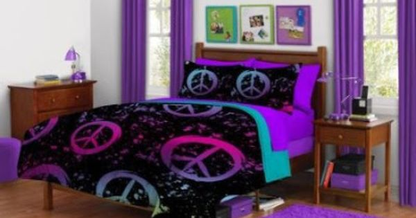 Peace Sign Bedroom Accessories: Peace Sign Bedding For Girls