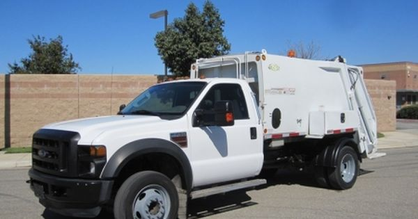 2009 Ford F 450 With New Way Diamondback 6 Yard Rear Loader Garbage Truck For Sale Ford Power Stroke 6 4l 350hp Diesel En Garbage Truck Trucks Trucks For Sale