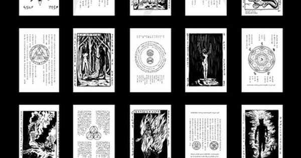 Canny image in printable necronomicon pages