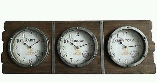 Us Time Zone Wall Clocks