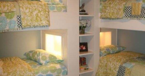 Corner bunk bed unit...perfect bunk room for a cottage or lake house!