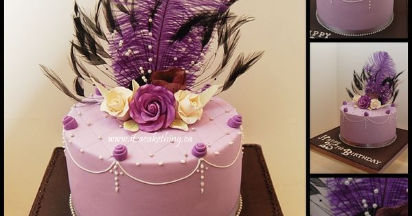 The Cake Artist Mandurah : Sophisticated Birthday - Feathers and sophistication for ...