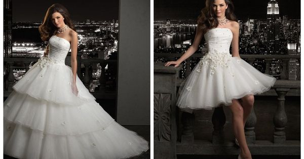 Convertible Ball Gown Wedding Dress Would Be Nice For The